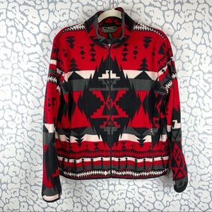 Ralph Lauren Active Navajo Print Fleece Jacket XL